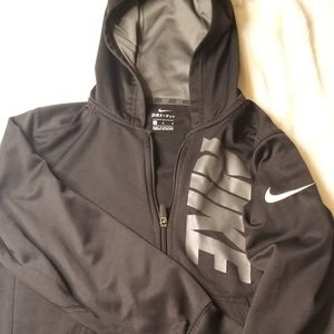 Nike dri fit zip up hoodie, youth size large